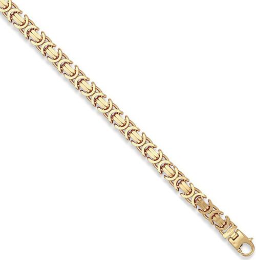 "22"" 56cm 9mm thick 9ct Gold Byzantine Chain 90g"