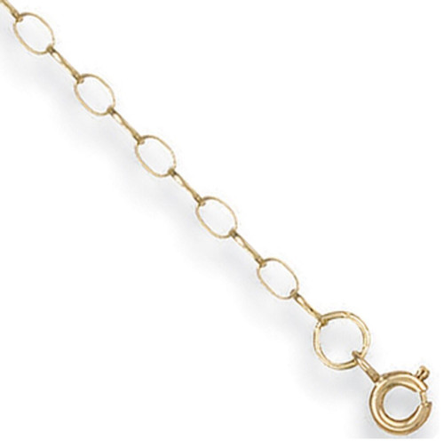 28 inch 71cm 2.75mm thick 9ct Gold Oval Link Belcher Chain 2.7g