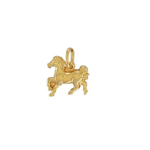9ct Gold Lightweight Horse charm Pendant 0.8g