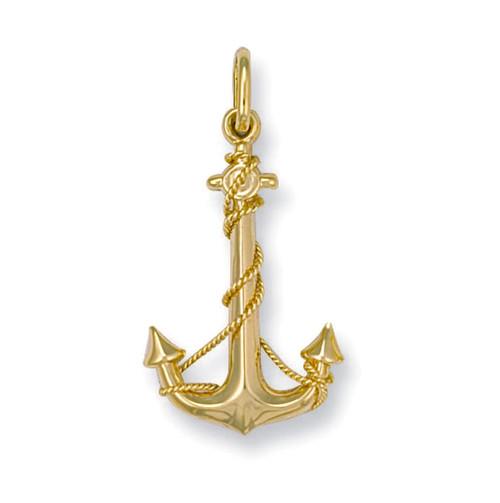 9ct Gold Anchor pendant Charm 1g