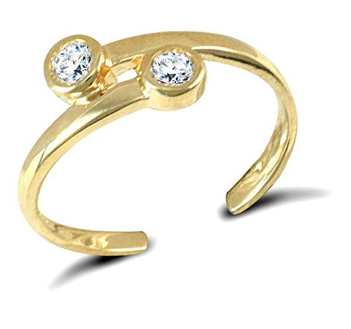 9ct gold Cubic Zirconia torque toe ring