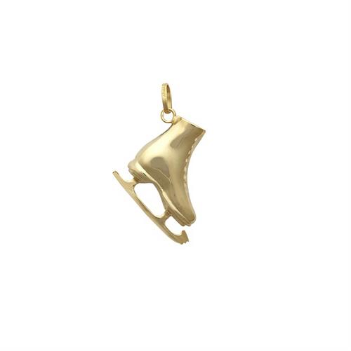 9ct Gold Ice Skate charm Pendant 0.7g