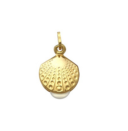 9ct Gold Pearl in Oyster Pendant 0.8g