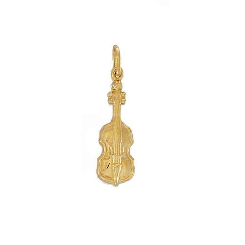 9ct Gold Lightweight Cello Violin Charm pendant 0.9g