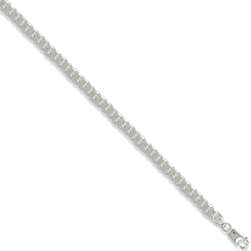 """Ladies 7.5"""" 5.5mm thick sterling silver curb bracelet 7.7g"""