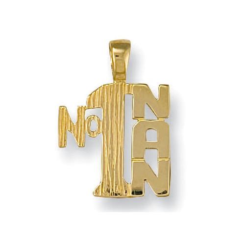 9ct Gold Number 1 Nan Pendant 0.9g