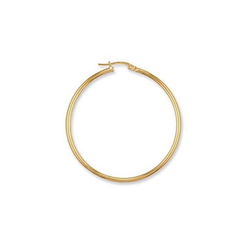 4cm wide 9ct gold hoop earrings 3.4g