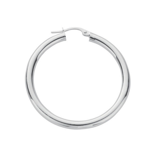3.5cm Sterling silver Plain hoop Earrings 4.6g