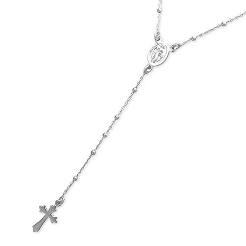 """18"""" Sterling silver Rosary Necklace Childs 3.31g"""