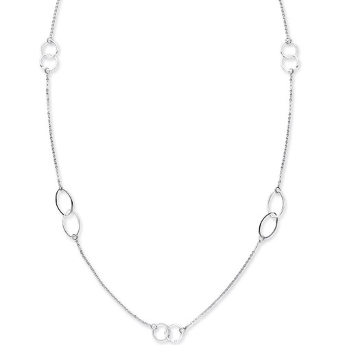 42 inch very long Sterling Silver Fancy Necklace Chain 7.2g