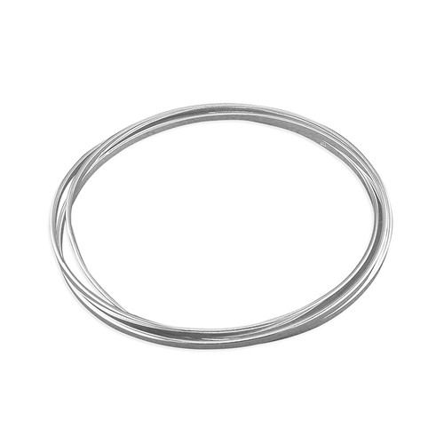 Sterling silver 3mm thick Flat Russian Slave Bangle 11.8g
