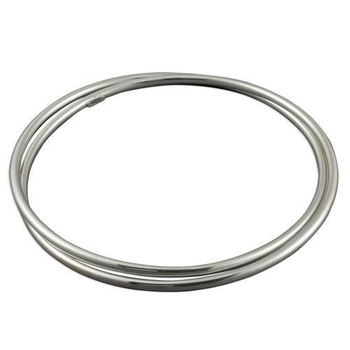 Sterling Silver Double interlinked slave Bangle 8.2g