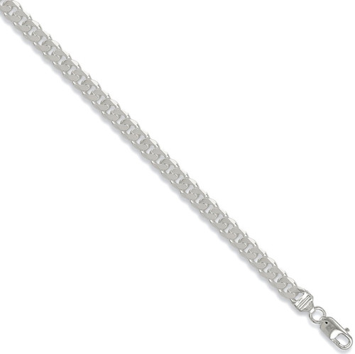 Ladies 7.5 inch 7mm thick sterling silver curb bracelet 15.8g
