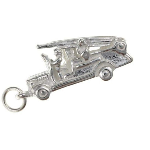 Sterling silver fire engine charm