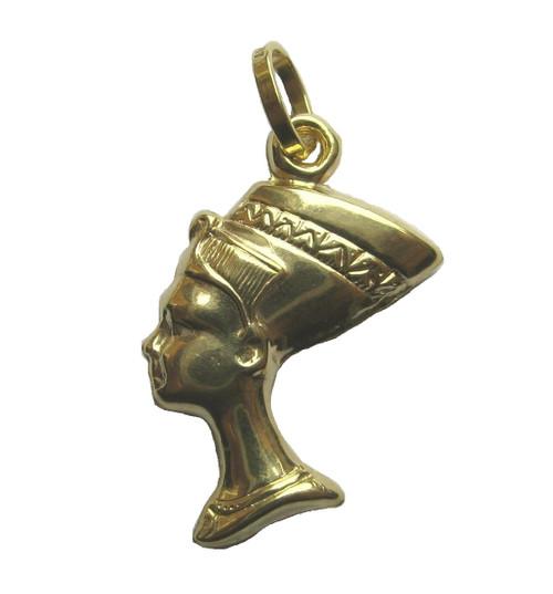 9ct Gold Small Queen Nefertiti Charm Pendant