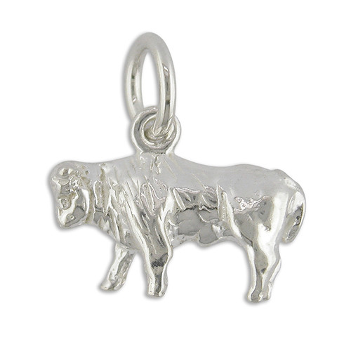 Sterling silver Taurus the bull zodiac starsign charm