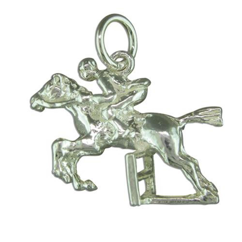 Sterling Silver Show Jumping Horse Charm