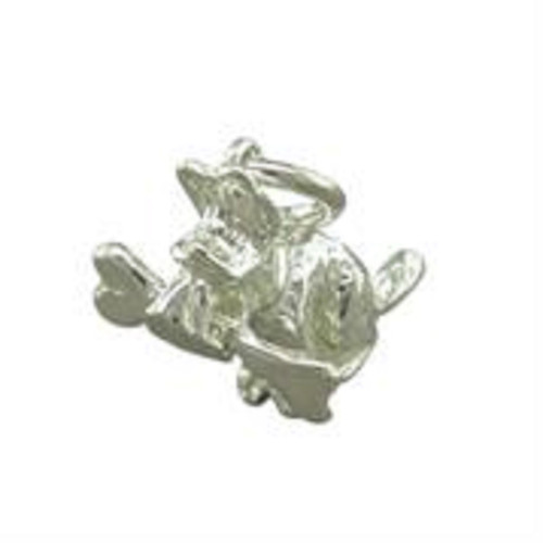 Sterling Silver Dog with Bone Charm