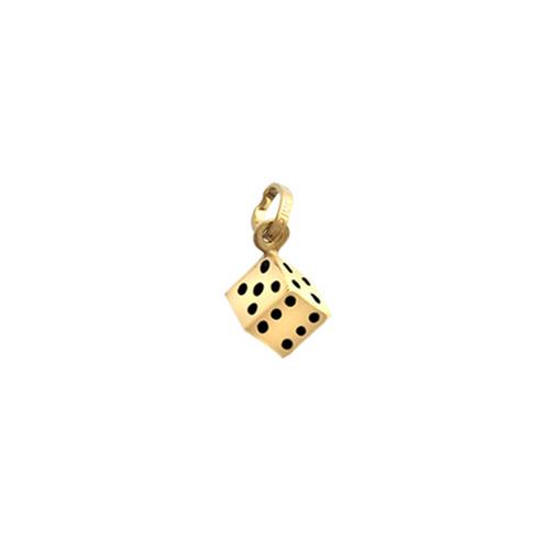 9ct Gold Lightweight small dice charm pendant 0.4g