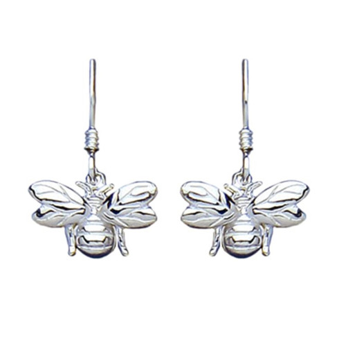 Sterling Silver Hook in Bumble bee drop hook Earrings