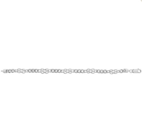 "Ladies 7.5"" Sterling silver plain Celtic knot Bracelet 10.5g"