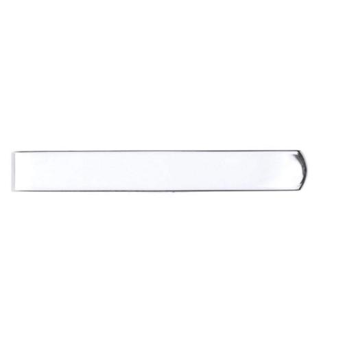 Sterling Silver Plain skinny tie slide