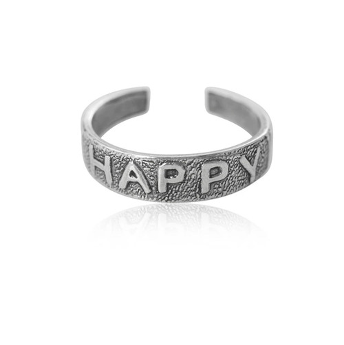Sterling Silver Happy Toe Ring