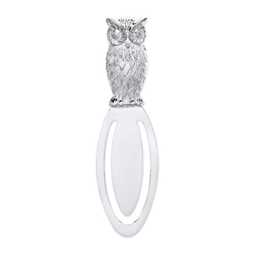 Sterling Silver Owl Bookmark 9.5g