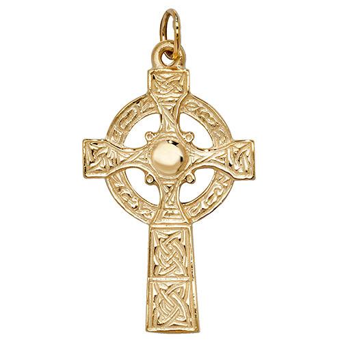 9ct Gold Celtic Cross Pendant 3.6g Hallmarked