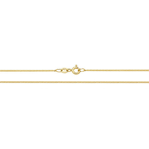"""18"""" 0.9mm thick 18ct Gold curb chain 1.78g"""