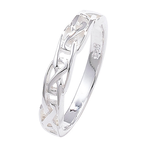 Sterling Silver Narrow Celtic knot Band ring