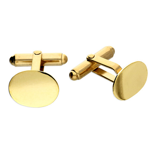 Sterling Silver Gold plated swivel back cufflinks