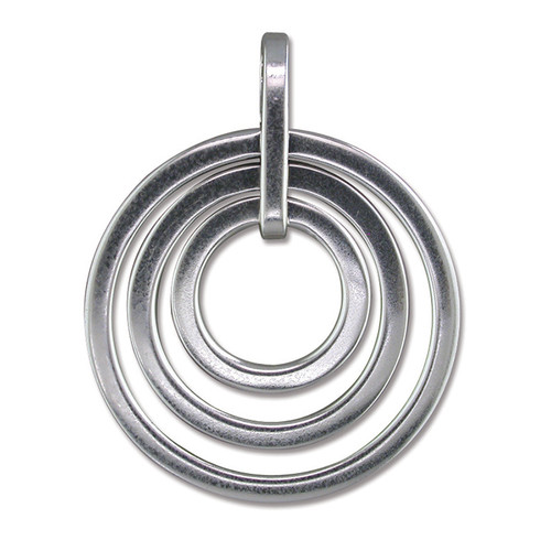 Sterling Silver concentric rings pendant
