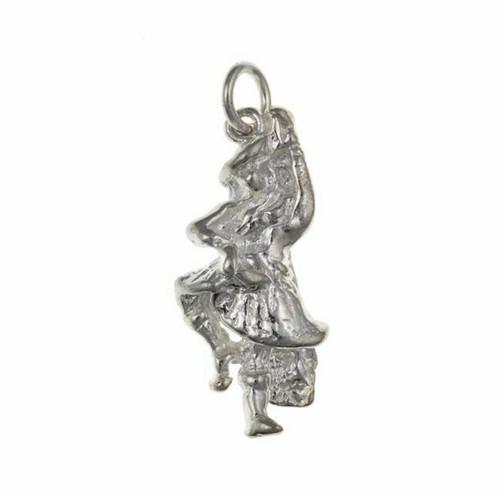 Sterling silver Scottish highland dancer charm