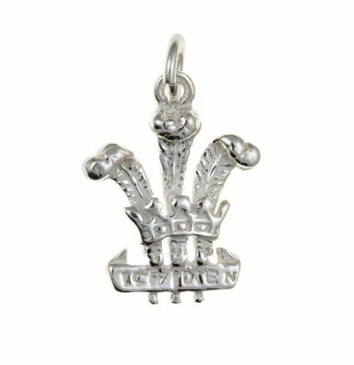 Sterling Silver Welsh plume of feathers charm