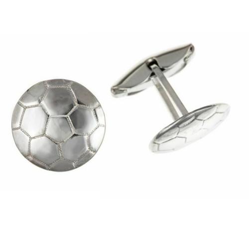 Sterling Silver Gents Swivel back Football Cufflinks