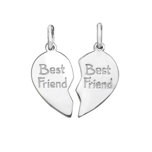 Sterling Silver Best Friends together Pendant