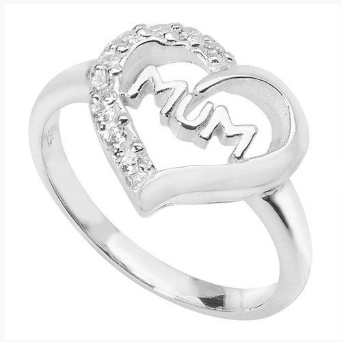 Sterling silver Cubic Zirconia Mum ring