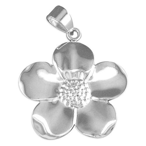 Sterling silver Large Petaled flower pendant