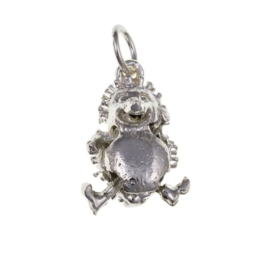 Sterling silver movable Hedgehog charm