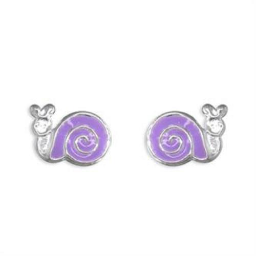 Sterling silver Enamelled Snail Stud Earrings