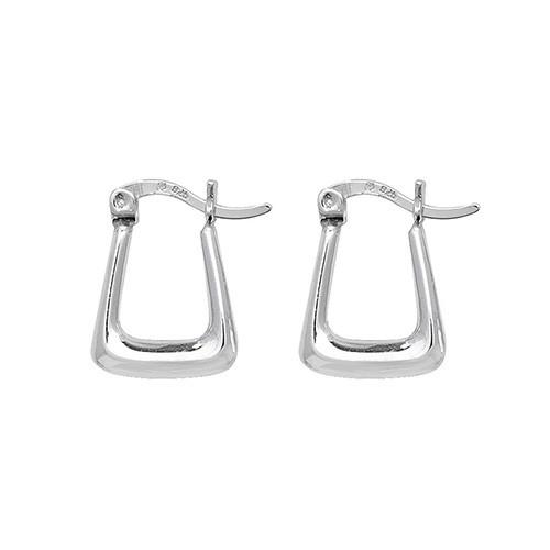 Sterling Silver small Creole Handbag Earrings