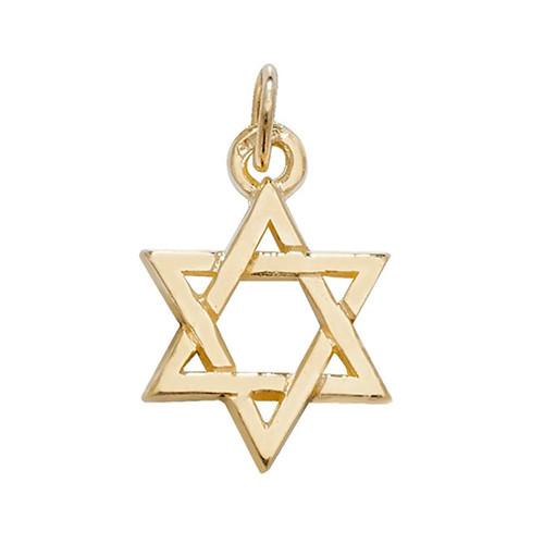 9ct gold small Star of David Charm Pendant 1.6g