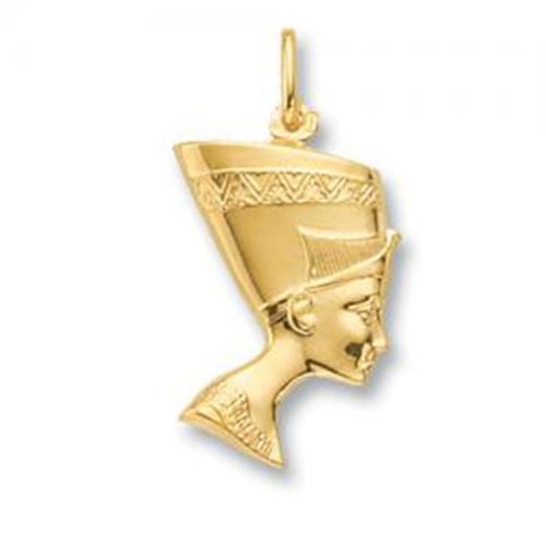 9ct Gold Large Queen Nefertiti Pendant 1.7g