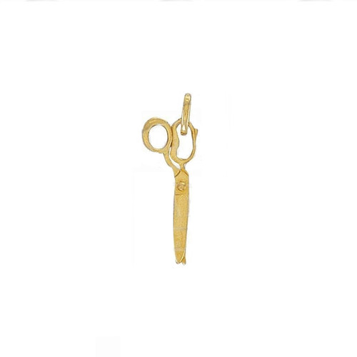 9ct Gold Small Movable Scissors Pendant 0.8g