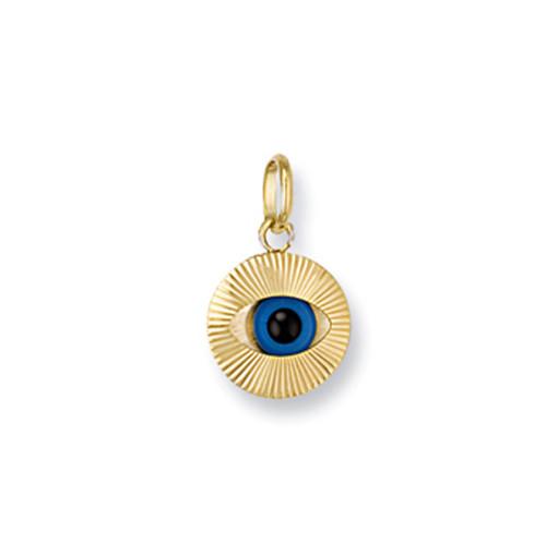 9ct Gold turkish evil eye charm pendant 0.8g