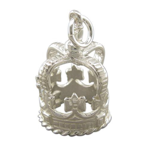 Sterling Silver Large Crown Charm