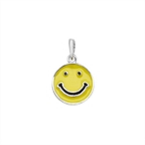 Sterling Silver Enamelled Happy Face Pendant