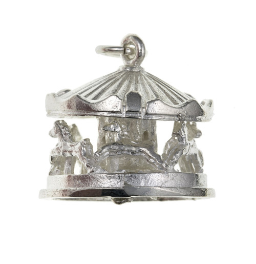 Sterling Silver Moveable Carousel Charm