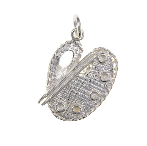 Sterling silver artists palette charm